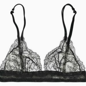 LA PERLA lace soft cup triangle bra